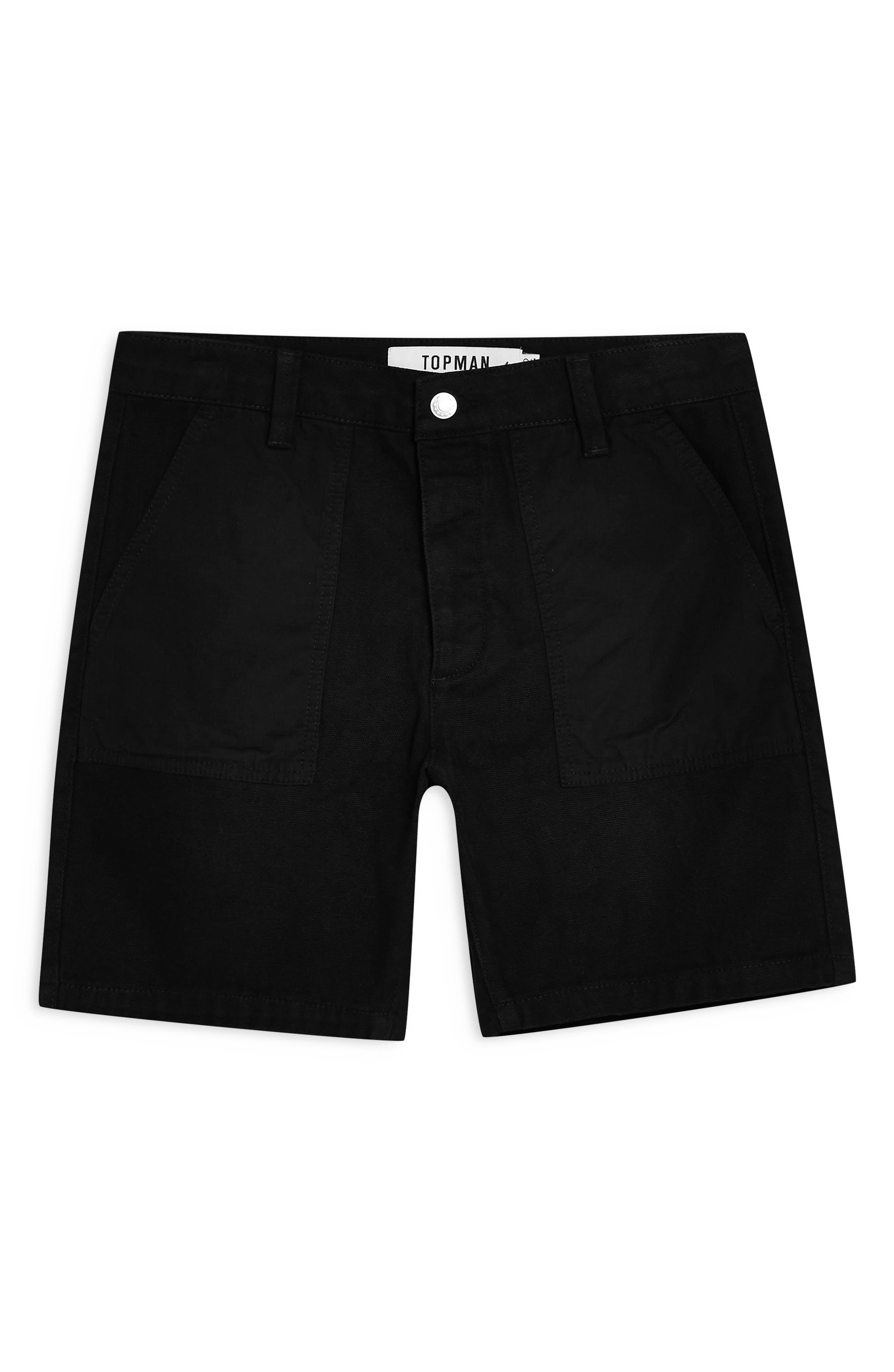 ,                             Slim Fit Utility Shorts,                             Alternate thumbnail 4, color,                             BLACK