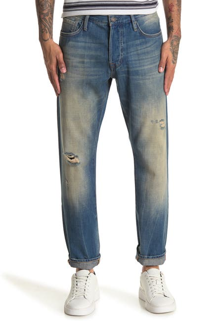 Image of OVADIA AND SONS Slightly Distressed Straight Leg Jeans