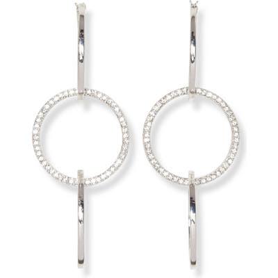 Vince Camuto Pave Triple Hoop Earrings