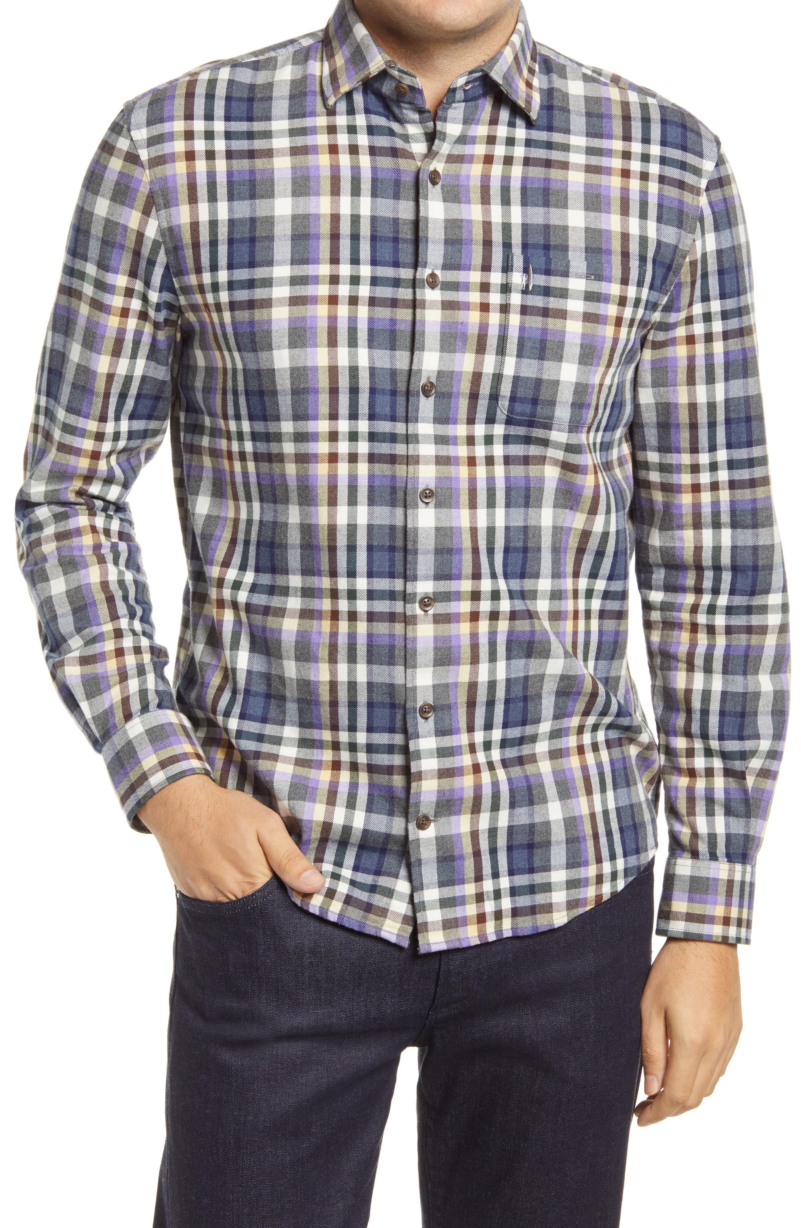 Ervin Plaid Flannel Button-Down Shirt