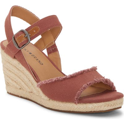 Lucky Brand Mindra Espadrille Wedge Sandal- Pink