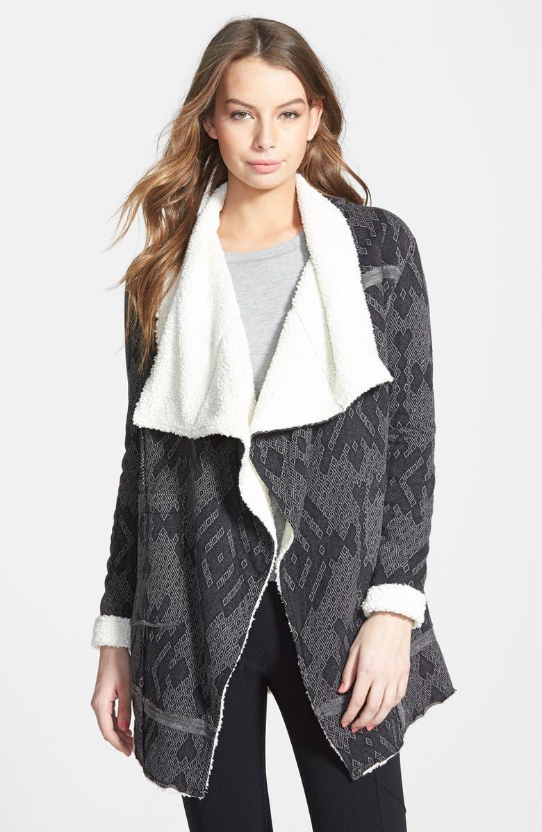 SUN & SHADOW Shawl Collar Blanket Coat, Main, color, 030