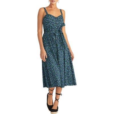 Rachel Rachel Roy Print Fit & Flare Sundress, Blue