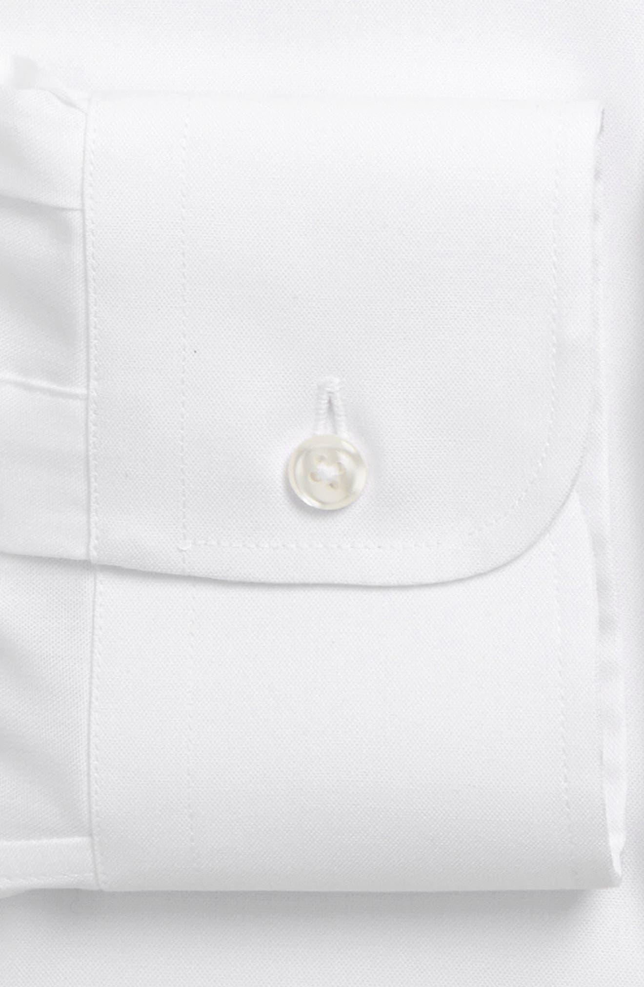 ,                             Trim Fit Non-Iron Dress Shirt,                             Alternate thumbnail 6, color,                             WHITE