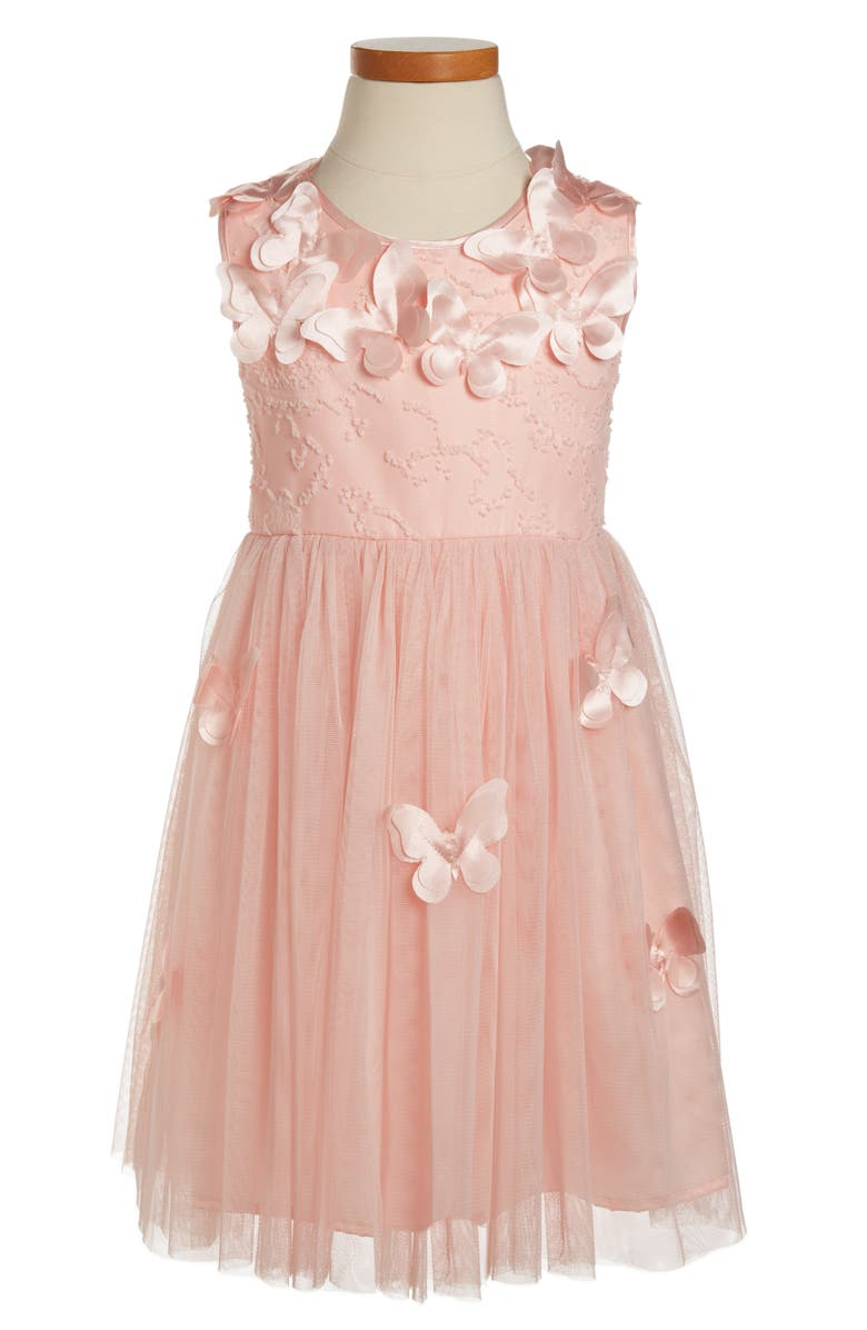 POPATU Butterfly Dress, Main, color, PEACH