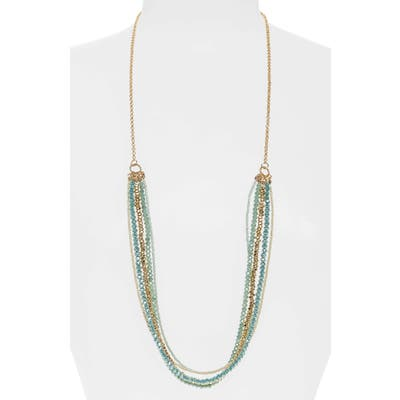 Stella + Ruby Beaded Multistrand Necklace