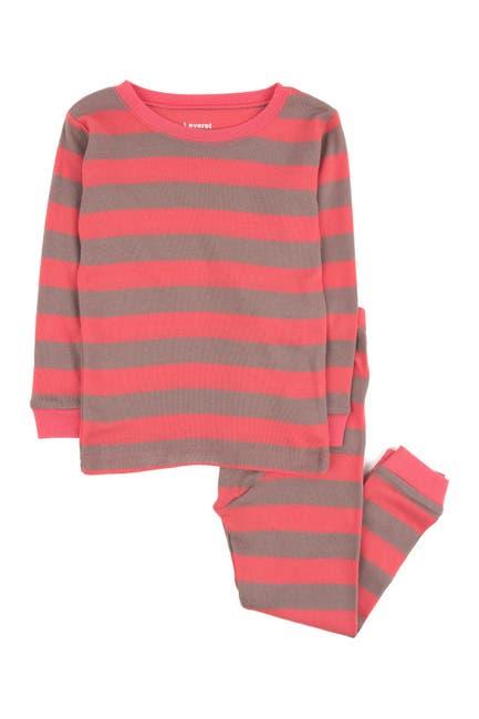 Image of Leveret Rose and Antler Stripes 2-Piece Pajama Set