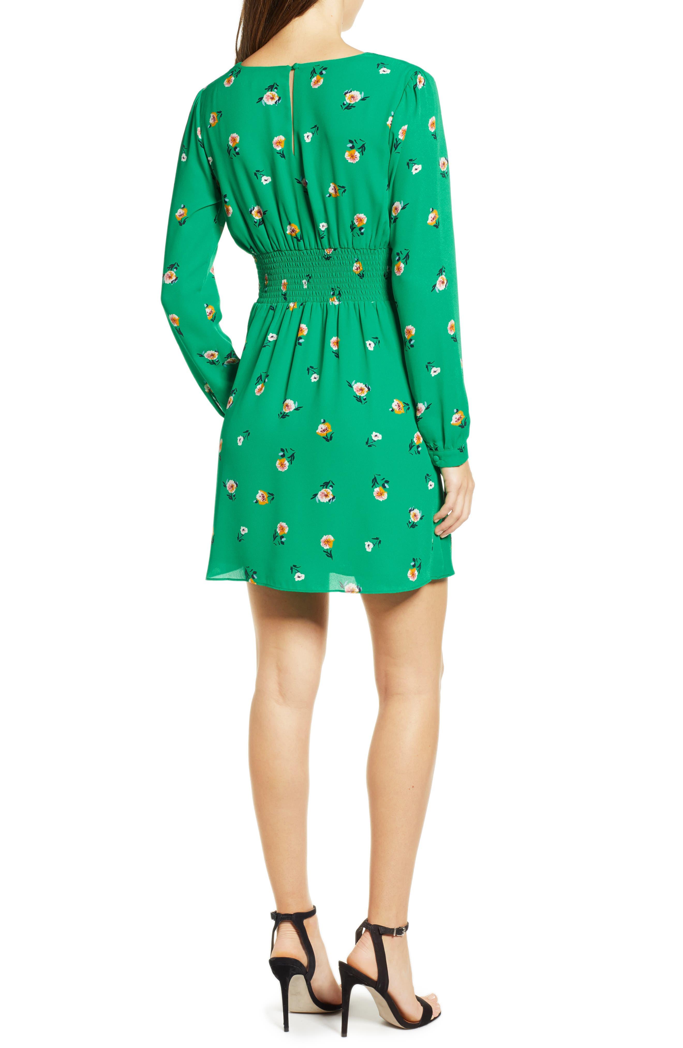 ,                             Print Button Dress,                             Alternate thumbnail 9, color,                             300