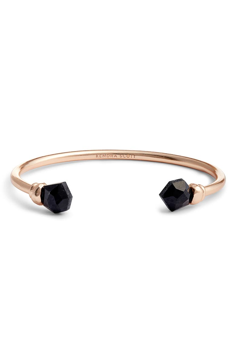 KENDRA SCOTT Ellms Cuff, Main, color, ROSE GOLD/ BLACK GRANITE