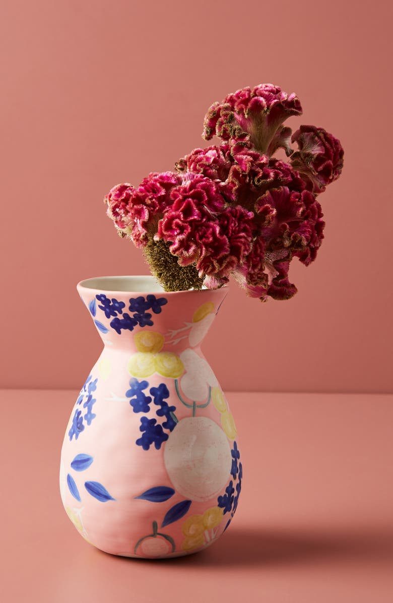 ANTHROPOLOGIE HOME Carmo Small Vase, Main, color, PINK