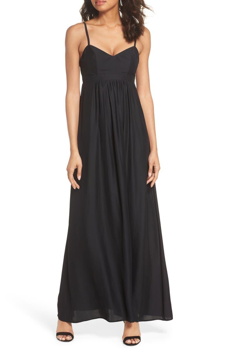FELICITY & COCO Colby Woven Maxi Dress, Main, color, 001
