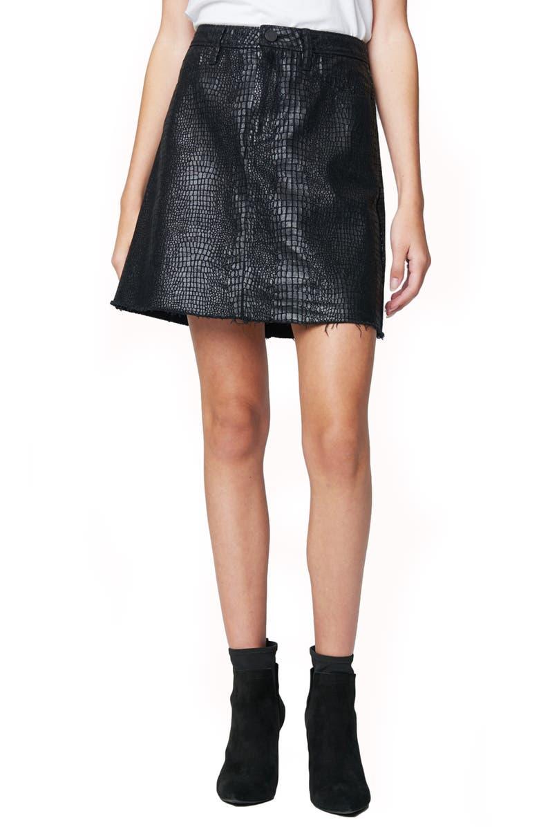 BLANKNYC A-Line Miniskirt, Main, color, 001