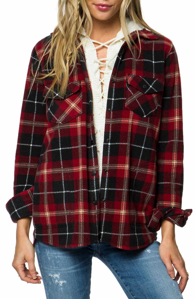 O'NEILL Zuma Water-Resistant Flannel Shirt, Main, color, 001
