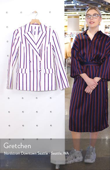 Striped Double Breasted Blazer, sales video thumbnail