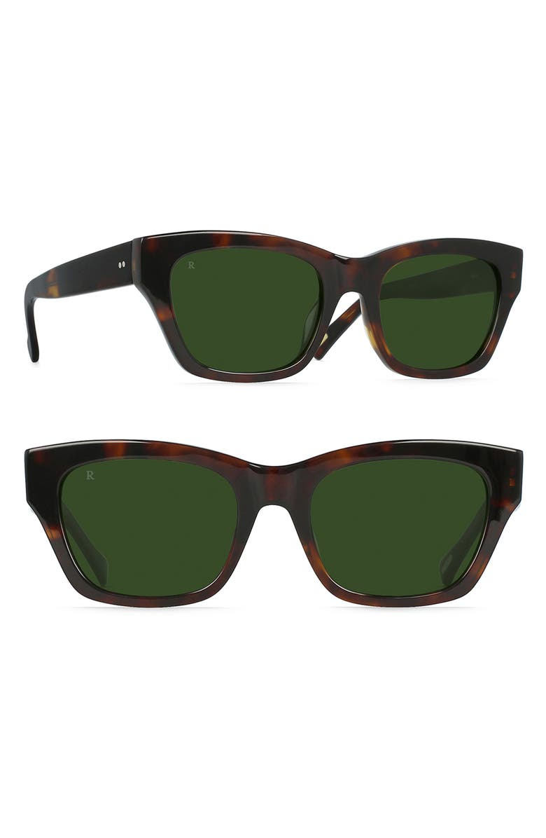 RAEN Bower 52mm Sunglasses, Main, color, KOLA TORTOISE/ BOTTLE GREEN
