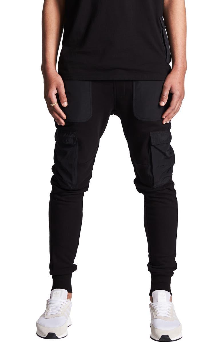 NXP Selector Fleece Cargo Jogger Pants, Main, color, 001