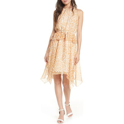 Sam Edelman Peplum Chiffon Dress, Yellow