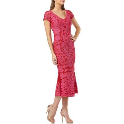 Js Collections Soutache Trumpet Dress, Pink