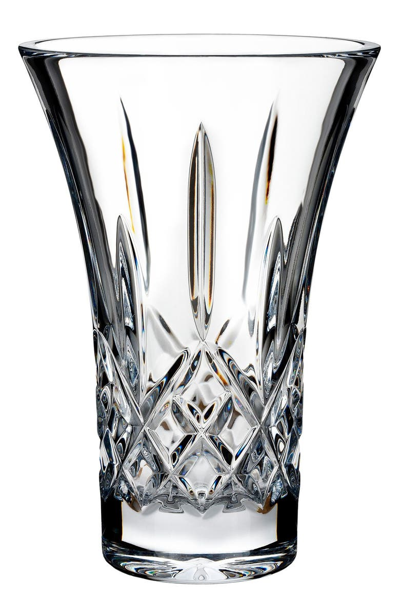 WATERFORD Lismore Lead Crystal Flared Vase, Main, color, CLEAR