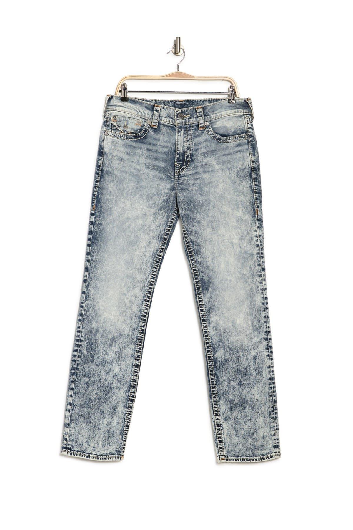 Image of True Religion Ricky Flap Big T Acid Wash Straight Jeans