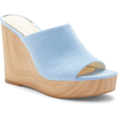 Jessica Simpson Shantelle Wedge Slide Sandal- Blue