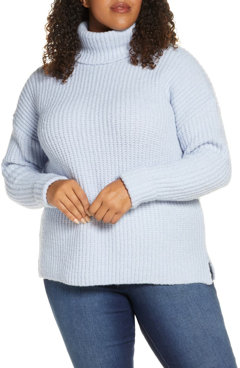 CASLON<SUP>®</SUP> Turtleneck Sweater, Main, color, BLUE XENON