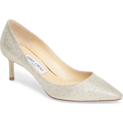 Jimmy Choo Romy Glitter Pump, Metallic