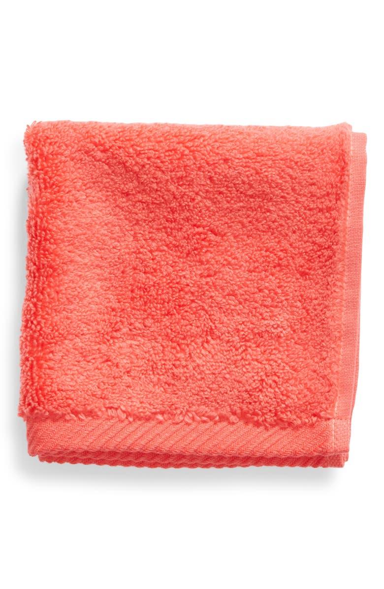 MATOUK Milagro Washcloth, Main, color, HIBISCUS