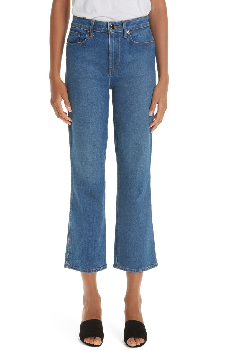 KHAITE Crop Flare Jeans, Main, color, NAPA