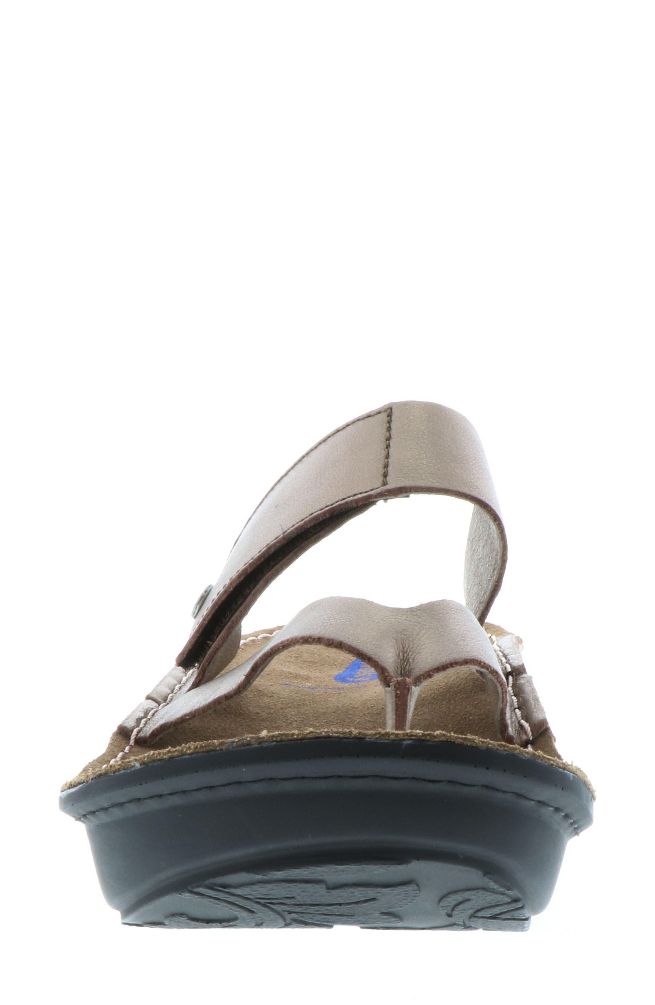 ,                             Tahiti Platform Sandal,                             Alternate thumbnail 4, color,                             BRONZE METALLIC