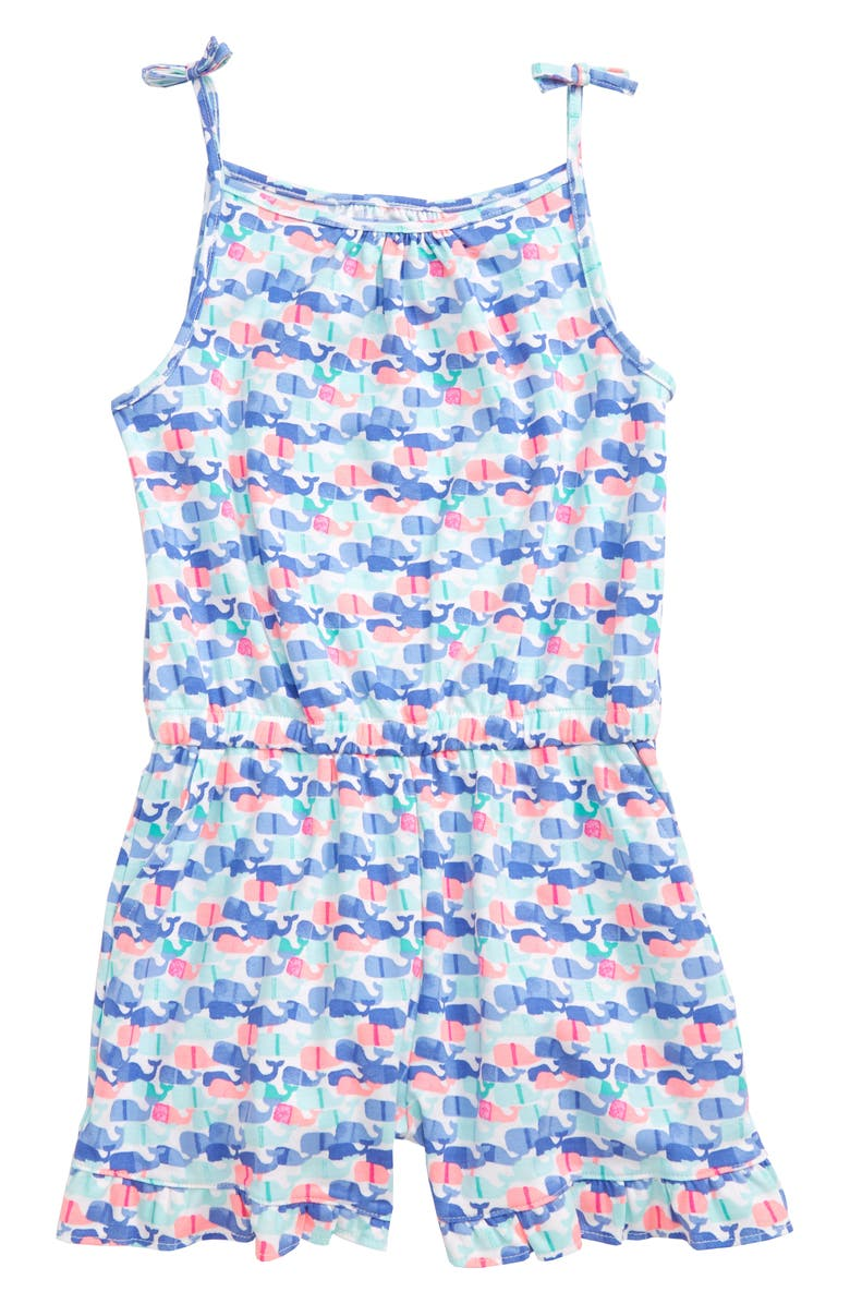 VINEYARD VINES Candy Whale Romper, Main, color, 100