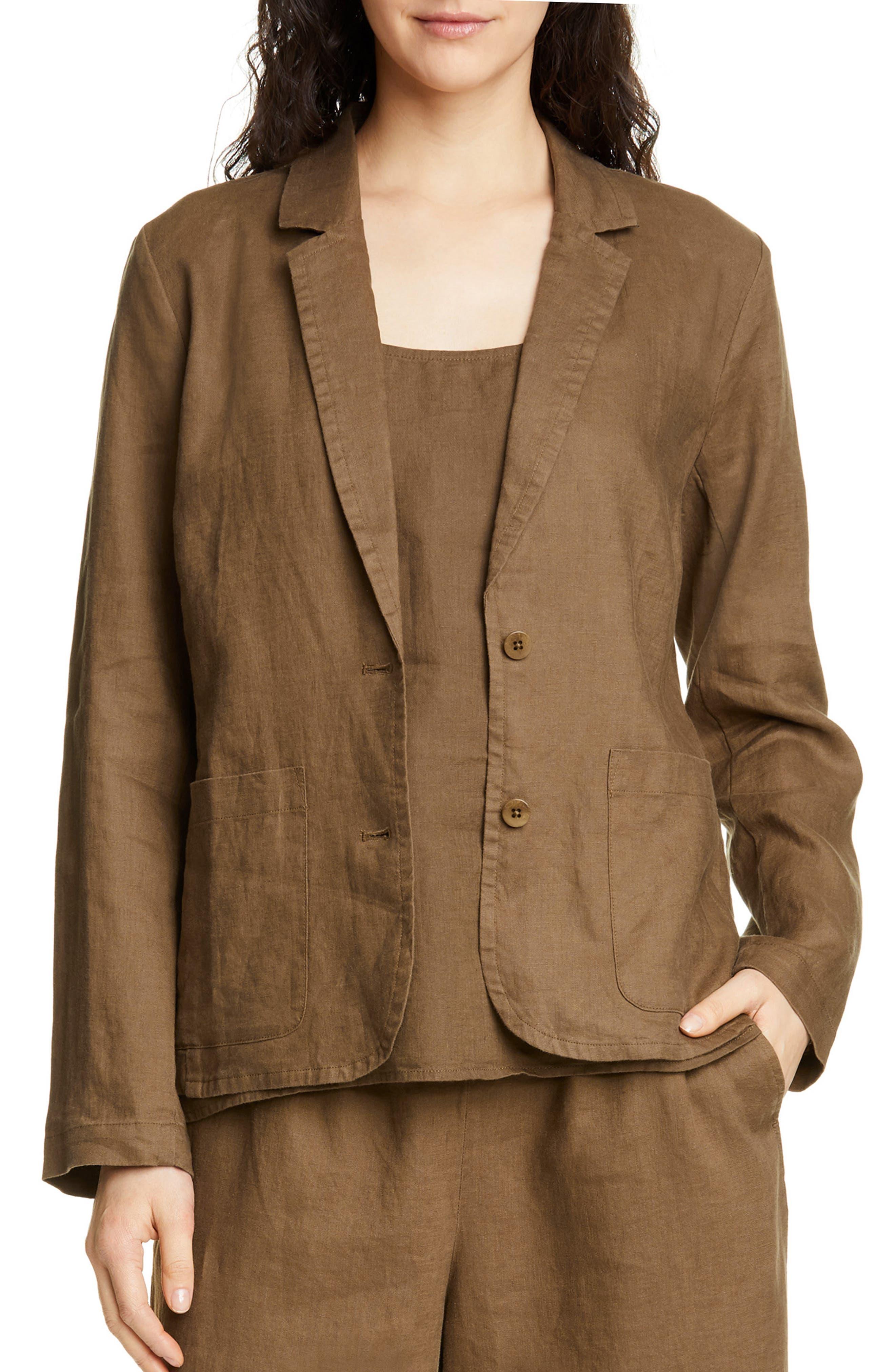 womens-petite-cotton-blazer