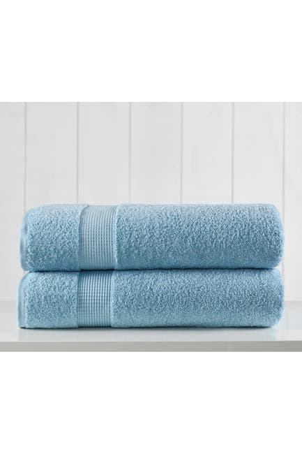 Image of Modern Threads Manor Ridge Turkish Cotton 2 Pack Bath Sheet Set - Blue