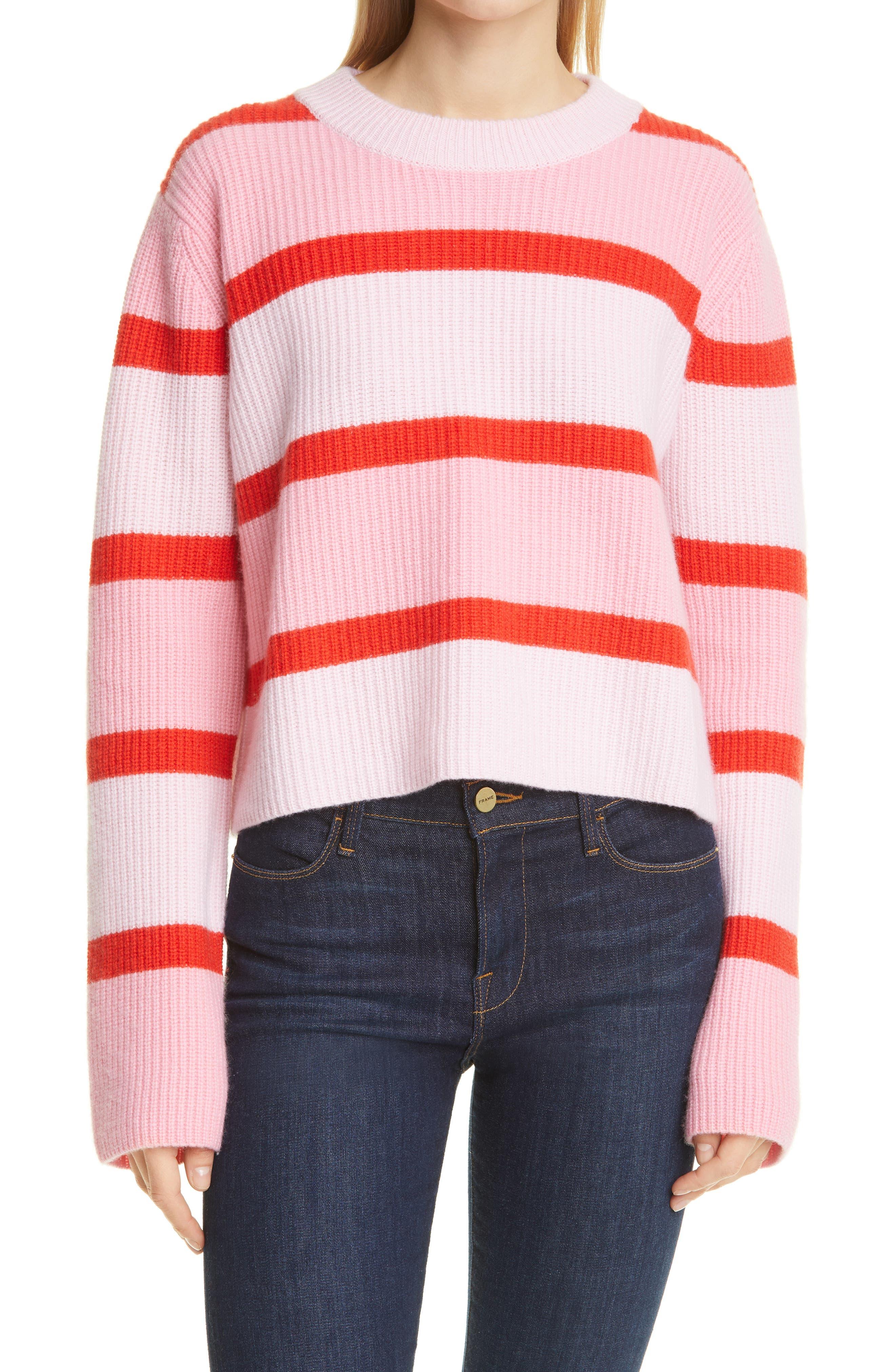 Bold Tonal Stripe Wool & Cashmere Sweater
