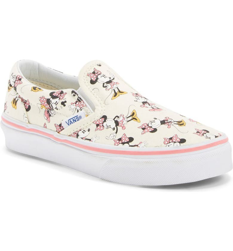 VANS 'Classic - Disney<sup>®</sup> Minnie Mouse' Slip-On, Main, color, 100