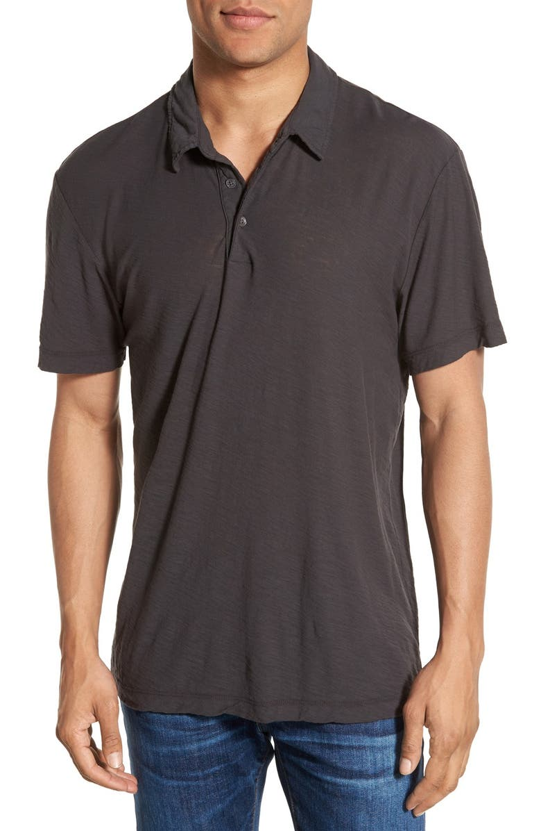 JAMES PERSE Classic Slub Cotton Polo, Main, color, 024