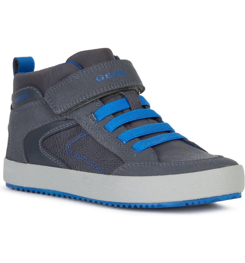 GEOX Alonisso 41 High Top Sneaker, Main, color, DARK GREY/ ROYAL