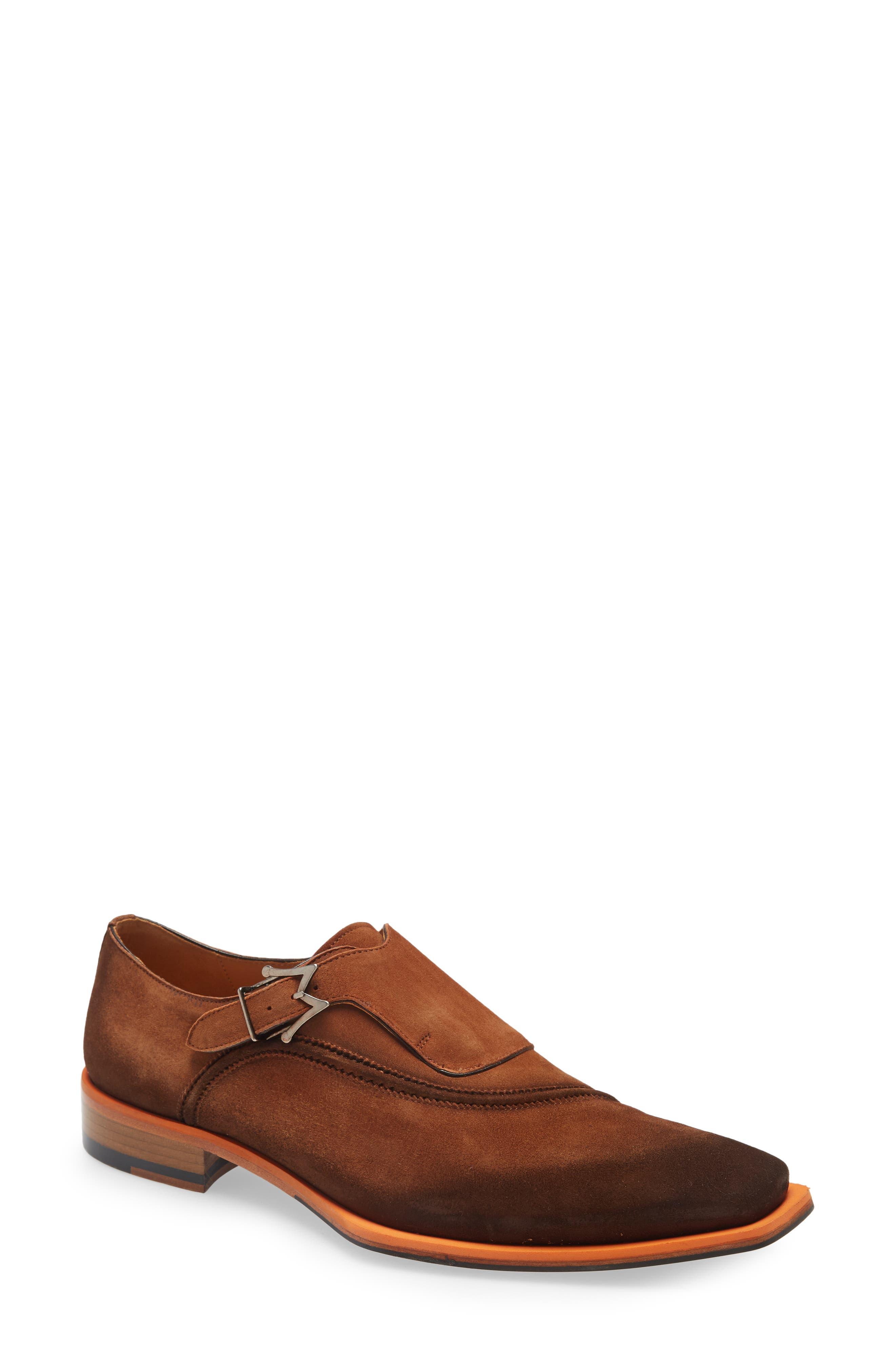 Asymmetric Monk Strap Shoe