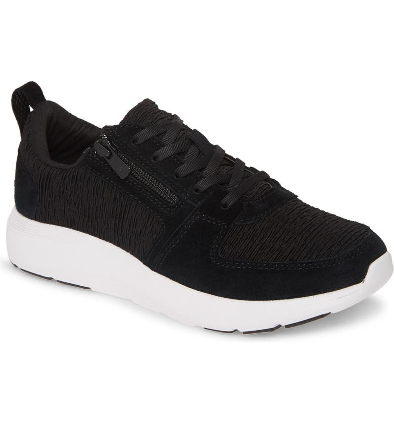 VIONIC Remi Sneaker, Main, color, BLACK LEATHER