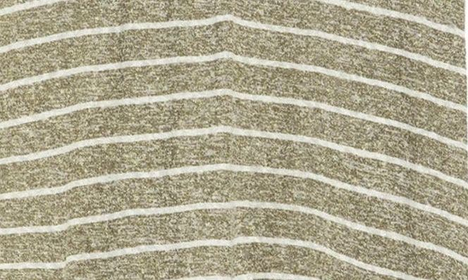 BURNT OLIVE STRIPE/WHITE