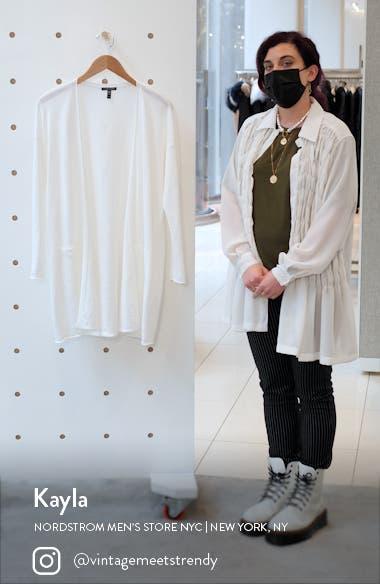 Organic Linen & Cotton Longline Cardigan, sales video thumbnail