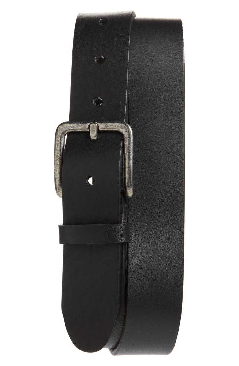 1901 Orris Tumbled Leather Belt, Main, color, 001