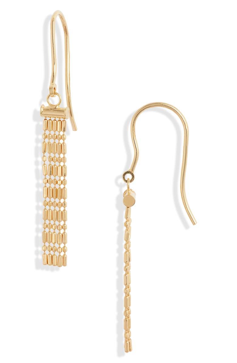 BONY LEVY 14K Gold Fringe Drop Earrings, Main, color, YELLOW GOLD