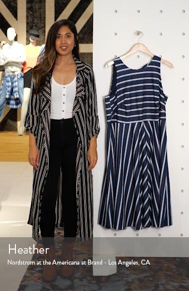 Stripe Fit & Flare Dress, sales video thumbnail