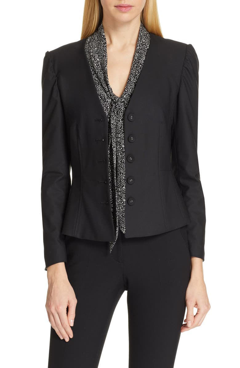 TAILORED BY REBECCA TAYLOR Clean Suiting Jacket, Main, color, 001