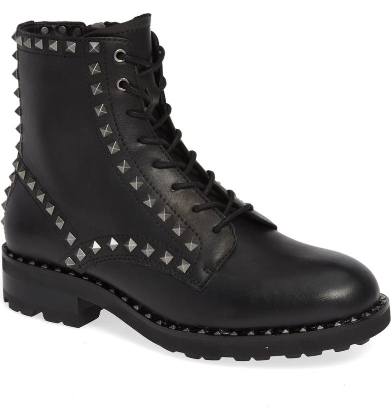 ASH Wolf Studded Combat Boot, Main, color, 006
