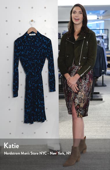 Dory Leopard Long Sleeve Shirtdress, sales video thumbnail