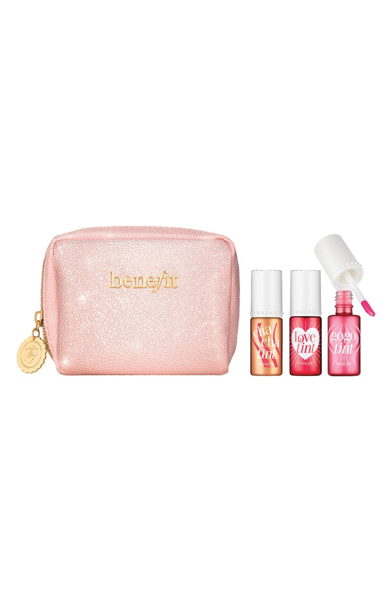 BENEFIT COSMETICS Benefit Full Size Love, Lips & Tints Cheek & Lip Stain Set, Main, color, NO COLOR