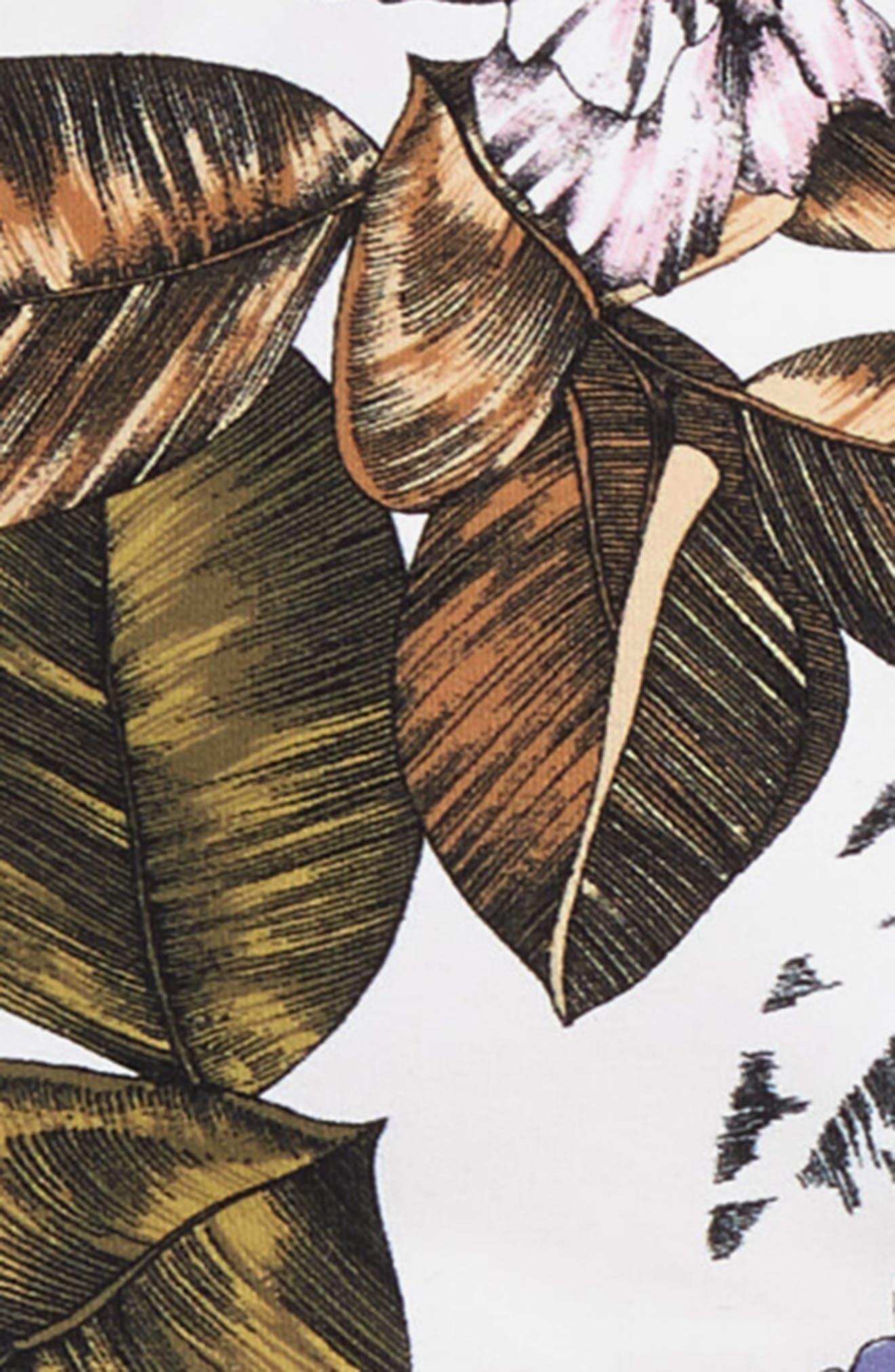 ,                             Two-Piece Floral Print Swimsuit,                             Alternate thumbnail 2, color,                             WHITE
