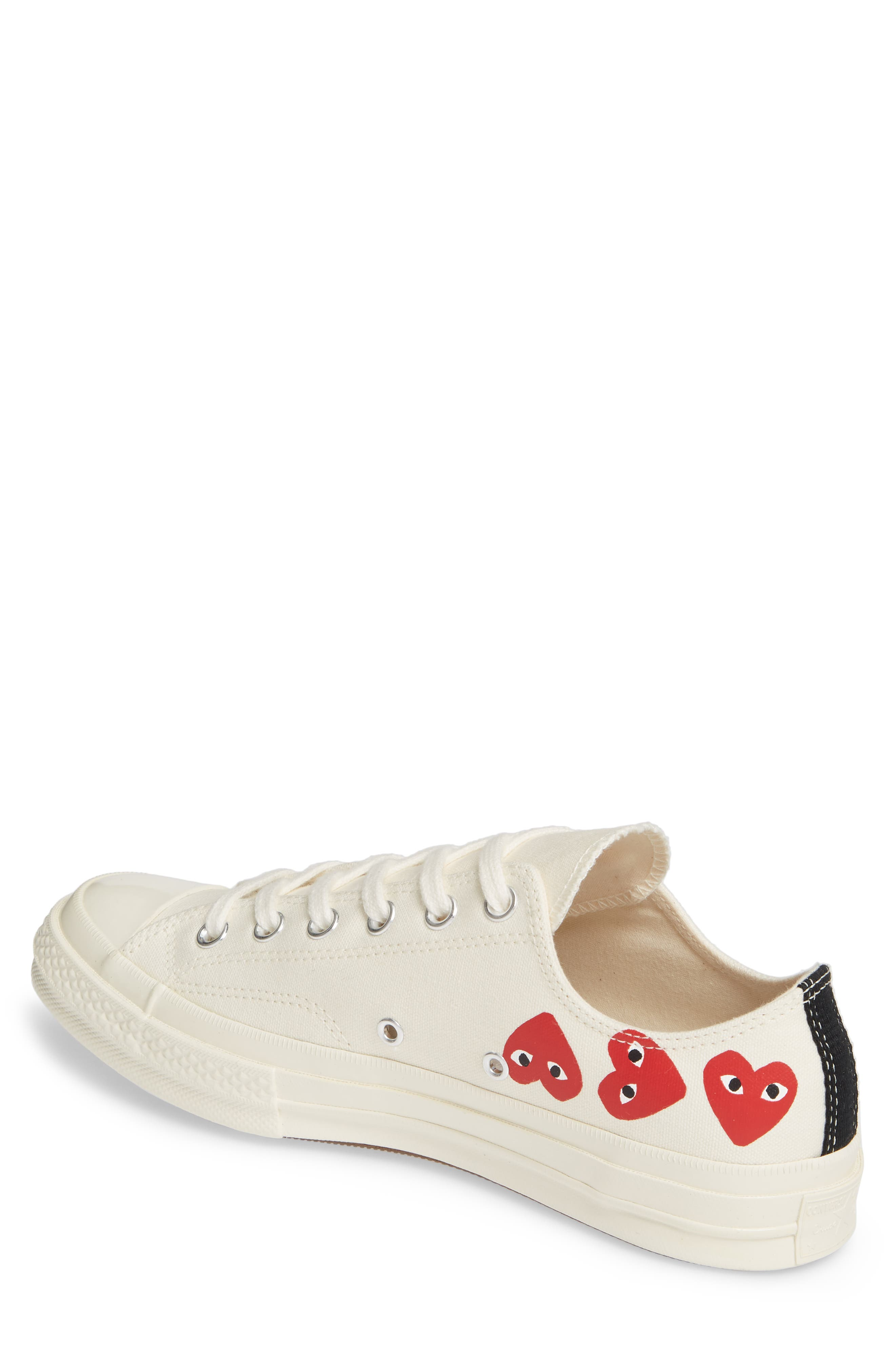 ,                             x Converse Chuck Taylor<sup>®</sup> Low Top Sneaker,                             Alternate thumbnail 2, color,                             OFF WHITE